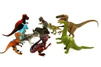 Lot of 10 Dinosaurs Toys Figures Hard Plastic Medium Size 4-7 in