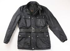 Belstaff Gold Label Mens Black Nylon Leather Roadmaster Jacket M Medium