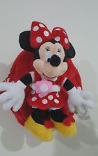 Disney Minnie Mouse Girl's, Soft Plush Backpack, 25x25cm, RED, $69.00 Authentic