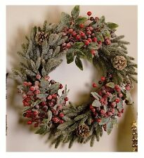 """""""Christmas Wishes"""" WREATH by Robin Davis-Wreath with Snow by Carson Home Accents"""