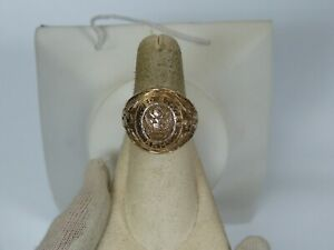 VINTAGE UNITED STATES ARMY GOLD OVER SILVER MEN'S RING SIZE 7 1/2