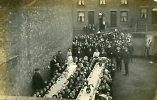 Harpenden Rare RP Children having communal  breakfast during the Strike 1912