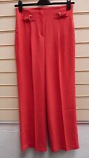 LADIES TROUSERS CORAL SIZE 22 KALEIDOSCOPE SMART HI WAIST WIDE LEG (G021