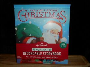 HALLMARK THE NIGHT BEFORE CHRISTMAS POP & LIGHT UP RECORDABLE STORYBOOK BOOK NEW
