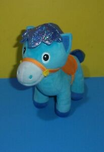 "Disney Sparky Horse Sheriff Callie's Wild West Plush Toy 8"" Blue Stuffed Animal"