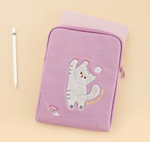 Cute Cat 11 Inch Tablet Sleeve Bag Waterproof Canvas Pouch Bag iPad Galaxy Tab