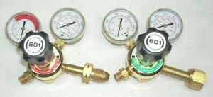 Genuine Harris 801 Gas Cutting Regulator Set Oxygen Acetylene or LP CGA 510