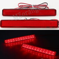 Pair For VW Transporter T5 03-10 Rear Bumper Reflector Tail Stop Brake Light Red