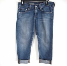 AG Adriano Goldschmied Womens Jeans 25 Tomboy Crop Relaxed Straight Dark Wash