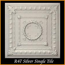 Ceiling Tiles Glue Up Styrofoam 20x20 R47 Silver Pack of 100 pcs 270 sq ft