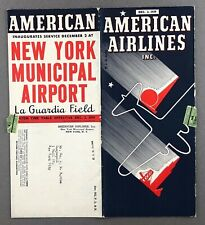 AMERICAN AIRLINES SYSTEM TIMETABLE DECEMBER 1939 AA