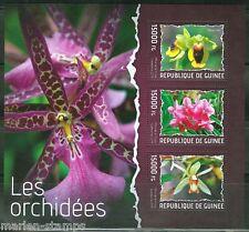 GUINEA  2014 ORCHIDS  SHEET MINT NH