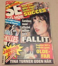 """Caroline Monaco Stefano Casiraghi Diana Vtg Danish Magazine 1990 """"Se og Hoer"""""""