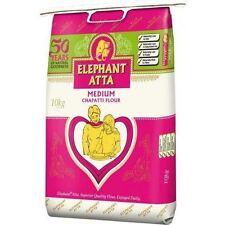 10kg Elephant Atta Medium Chapatti Flour Roti Indian Food Cooking Bread Naan 10