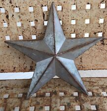 Country Farmhouse Galvanized Metal Barn Star 9.5 inch Primitive Rustic Decor