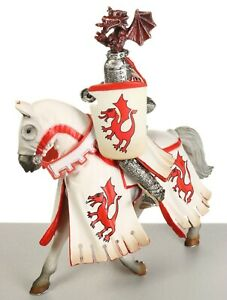 Schleich World of Knights Jousting RED DRAGON KNIGHT & HORSE Figurine # 70046