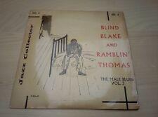 "BLIND BLAKE AND RAMBLIN' THOMAS - The Male Blues Vol. 3 7"" EP"