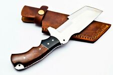 Custom Stainless Steel Tanto Tracker Hunting Knife FF33 Wood & Micarta Handle