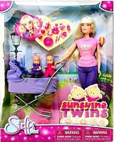 Simba Toys Steffi Love 11 1/2 Inch Doll With Sunshine Twins & Stroller Age 3 Up