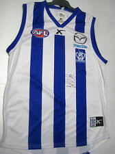 NTH MELB- BRENT HARVEY SIGNED HOME JERSEY UNFRAMED + PHOTO PROOF + C.O.A
