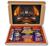 Mclaren F1 Super Car Sport 24 Bar Cadbury Chocolate Hamper Personalised Gift Box