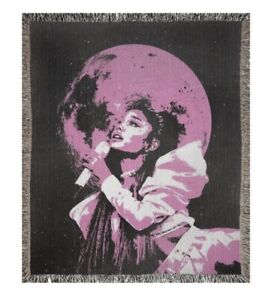 "ARIANA GRANDE MERCH WOVEN THROW BLANKET 50x60"" POSITIONS SWEETNER TOUR FAN GIFT"