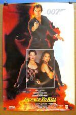 1989 Original 007 LICENCE TO KILL Video Movie Poster 27x40 1-Sided JAMES BOND