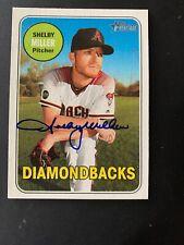 Shelby Miller Topps Heritage #389 2018 Signed Card Arizona Diamondbacks/Rangers