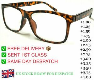Demi Trendy Reading Glasses Unisex Mens Ladies Nerd Retro Geek Cheap Big Lens