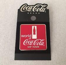 World of Coca-Cola VIP TOUR PIN badge Coke Red Atlanta headquarters 1.5 inch