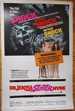 Dr Jekyll and Sister Hyde 40 x 60 Hammer horror poster famous monsters Mr Mister
