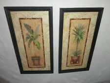 Home Interiors Set of 2- Safari Palm Trees '' Pictures Gorgeous 11.5'' x 21.5''