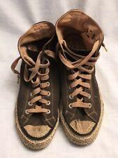 Vintage 1949-1950s Converse Chuck Taylor Athletic Shoe Black Canvas White rubber