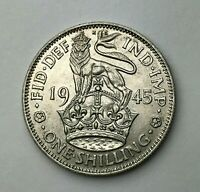 Dated : 1945 - Silver Coin - One Shilling - King George VI - Great Britain