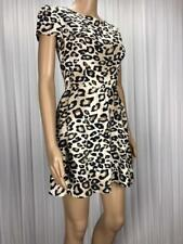 ** TOPSHOP ** Size 6 Beige Animal Print Occasion Party Dress - (B124)