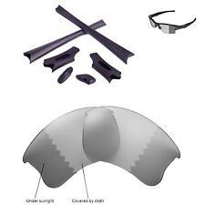 WL Polarized Transition Lenses And Black Rubber Kit For Oakley Flak Jacket XLJ