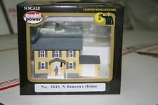 Model Power No. 2616 N Gauge Trains Lighted Benson`s House New in Box