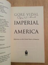 SIGNED by Gore Vidal - Imperial America SC + Pic