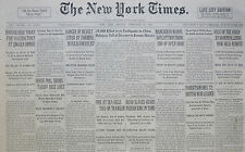 2-1933 February 13 MANCHUKUO WARNS BOYCOTT MAY BRING END TO OF OPEN DOOR. REICH