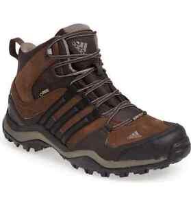 adidas Kumacross Mid GTX Leather Mens Sz 9 Shoes Brown G97767 Hiking Trail Boot