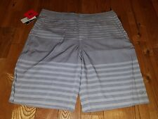 NEW Mens Grey HANG TEN Light Weight Quick Dry Stretch Beach or Streets Shorts 34