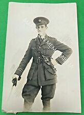 OFFICER OF THE CHESHIRE REGIMENT - PHOTOGRAPHIC POSTCARD