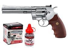 Colt Python CO2 Revolver Kit Chrome - 0.177 cal - 6rds Single-Action & Double-Ac