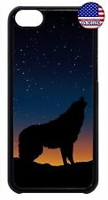 New For Apple iPod 4 5 6 Howling Wolf Design Slim Back Hard Case Cover