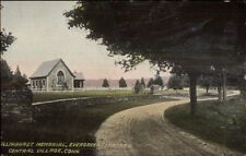 Central Village CT Evergreen Cemetery c1910 Postcard