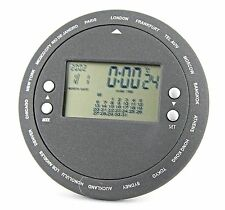 New! Hand-Held World Time Calendar/ Temperature LCD Display Table Clock-889-939