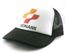 Konami hat Trucker Hat mesh hat black New snap back video game hat vintage style