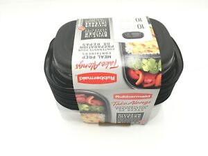 Rubbermaid 20pc Take Alongs Meal Prep Containers Set New