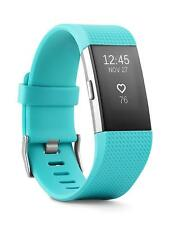 """""""New"""" Fitbit Charge 2 Heart Rate Fitness Wristband & Sleep Tracker, Large-Teal"""