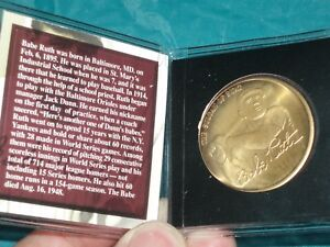 Replica Signature Babe Ruth collectible coin NEW